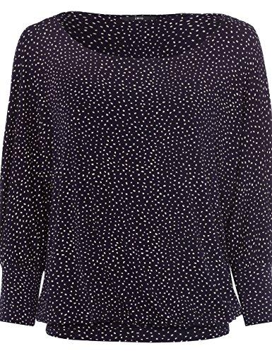 zero Damen T-Shirt mit Fledermausärmeln 403189 Blue Black