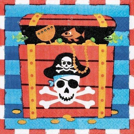 amscan Piraten Party Servietten 16 Stück bunt 16,5x16,5cm Einheitsgröße
