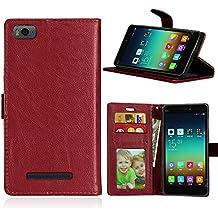 BarRan Funda Protectora para Xiaomi Mi 4i 4c Mi4i Mi4c M4i M4c Abatible Billetera PU Cuero Estuche Cubierta magntic De Lujo