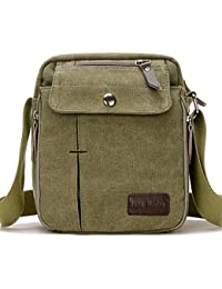 c66cb2ca17 SUPA MODERN® Men Small Vintage Canvas Messenger Bag Cross body bag Pack  Organizer Satchel Bag