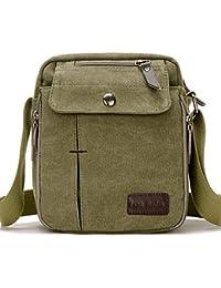 d3ae9246916 SUPA MODERN® Men Small Vintage Canvas Messenger Bag Cross body bag Pack  Organizer Satchel Bag
