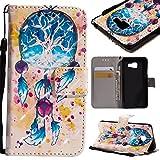 SRY-1 Cuero de la PU Folio Flip Case Wallet Stand Cover 3D Glitter Pintado Diseño funda para Samsung Galaxy A3 2016 A310 ( PATTERN : 6 )