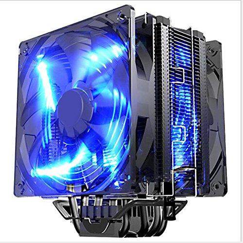 JHKJ CPU Kühler Führte Smart 2 Fan 5 Heatpipe/Kompatible AMD (Nicht Einschließlich AM4)/Intel -