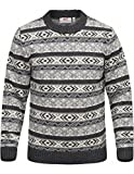 Fjällräven Övik Folk Knit Sweater Pullover Herren, Dark Grey, 2XL