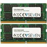 V7 V7K1700016GBS Notebook DDR4 SO-DIMM Module de mémoire 16Go (2X8Go KIT, 2133MHZ, CL15, PC4-17000, 260pin, 1.2V)