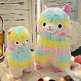 Zinsale Niedlich Regenbogen Alpaka Plüschtier Puppe Schaf Plüsch Kissen Stofftiere (50cm)