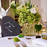 Weddix Sisalherzen als Streudeko - Tischdeko Hochzeit, romantische Deko Herzen für Valentinstag, Liebeserklärung und Heiratsantrag, grün - 4