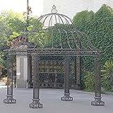 CLP Garten-Pavillon PALAIS, rund Ø 3,70 Meter, Höhe 440 cm, stabiles Eisen ( Metall ), schlichtes & stilvolles Design Bronze