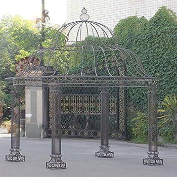 clp metall pavillon romantik rund h he 350 cm stabile eisen vierkantprofile bronze. Black Bedroom Furniture Sets. Home Design Ideas