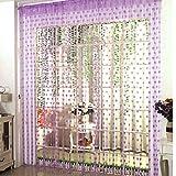 Vidillo Fadenvorhang, Fadenvorhang Glitzer Herz Weiss 100 x 200 cm Wandvorhang Schaufensterdekoration, Dekorative Gardine Raumteiler Fliegenschutz für Hochzeit, Café, Restaurant (Lila)