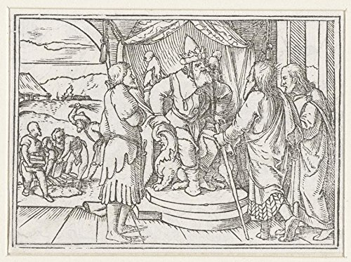 Das Museum Outlet-Moses und Aaron Met Pharao Dokument für Diskussion über Israel. 1538-A3Poster - Aaron Wall