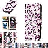 LA-Otter Coque Apple iPhone 5 5S Se Papillon Rose Flip Case Housse Etui à Rabat...