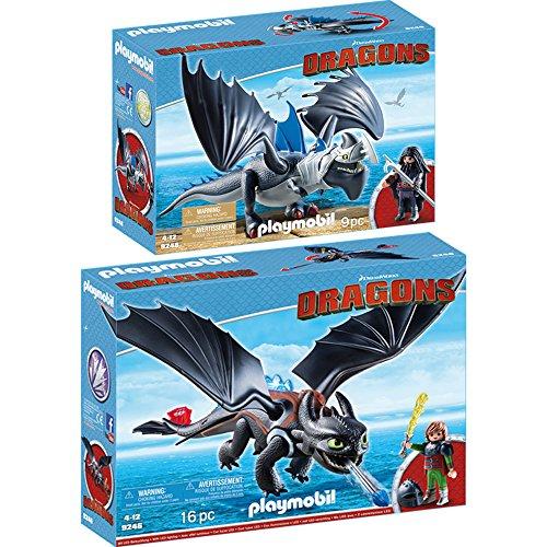 Preisvergleich Produktbild PLAYMOBIL® Dragons 2er Set 9246 9248 Hicks und Ohnezahn + Drago mit Donnerklaue