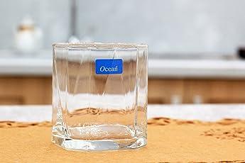Ocean Pyramid Rock Glass, 260ml, Set of 6