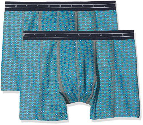 Scotch & Soda Herren Boxershorts All-Over Bedruckt Boxer Shorts, 2er Company, Mehrfarbig (Combo A 0217), XX-Large