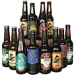 CERVEZA BOX 12 Cervezas Artesanas Alicantinas Pack degustacion o REGALO - Postiguet, A la Vora, Zorro Oro, Campanadas, Santa Faz, Santa Cruz Barbara IPA Tostada Negra Rubia Stout Miel Alicante
