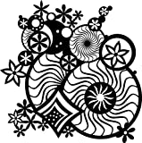 Marabu-028900010-Silhouette-Schablone-Fantasy-Ornament-30-x-30-cm
