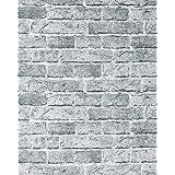 Papel mural con efecto muro de ladrillos EDEM 583-26 con imitación piedra stones y diseño rústico en city gris
