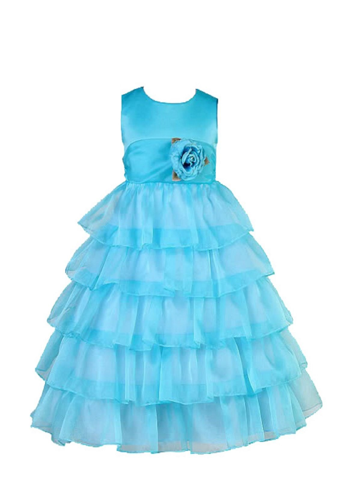 Sofyana Baby Girls Netted Princess Gown Birthday Party Wear Frock