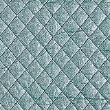Fabulous Fabrics Steppstoff Melange – grün — Meterware ab 0,5m — zum Nähen von Jacken und Mänteln