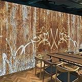Tantoto 3D Wallpaper Dell'Industria Eolica Sfondi 3D Personalità Creative Ferro Ruggine Stagno Decorate Bar Caffè Tea Shop Wallpaper