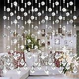 Windows Vorhänge, squarex 1PCS Kristall Glas Bead Vorhang Luxus Wohnzimmer Schlafzimmer Fenster Tür Hochzeit Decor, e, AS SHOW