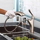 Hlluya Wasserhahn für Waschbecken Küche Der Hauptteil des Ganzen Kupfer Waschbecken und kaltem Wasser Armaturen für den ausziehbaren Wasserhahn Badewanne Armatur unter dem Tisch
