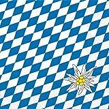 20 Servietten Edelweis / Raute / Bayern / bayrisch / Oktoberfest 33x33cm