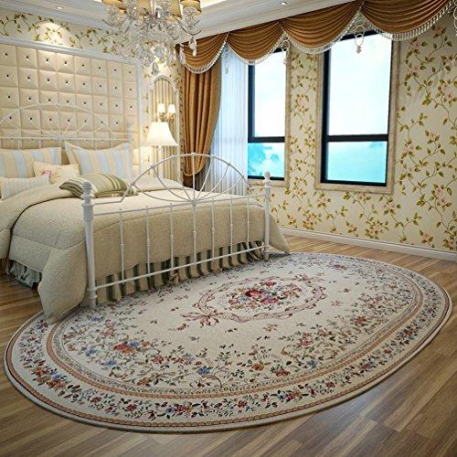 RUG ZI LING Shop- Teppich Home Wirtschaft Teppich Nordic Living Room Oval Teppich Nachtdecke Coral Villi Teppich (Farbe : Beige, größe : 160x230cm) - Wirtschaft Greifer
