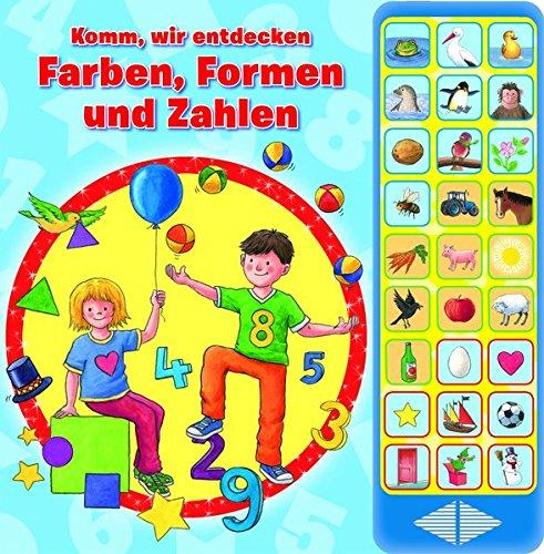 27-Button-Soundbuch - Komm, wir entdecken Farben, Formen und Zahlen - Hardcover-Buch - spielerisch lernen ab 3 Jahren