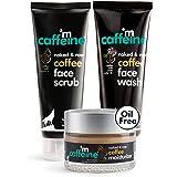 mCaffeine Coffee C-E-M Routine | Face Wash, Face Scrub & Moisturizer for Deep Cleansing, Exfoliation and Oil-Free Moisturizat