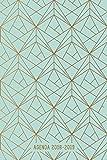 Agenda 2018-2019: Agenda Scolaire de Juillet 2018 à Août 2019,  Semainier simple & graphique, motif géométrique Or & Vert
