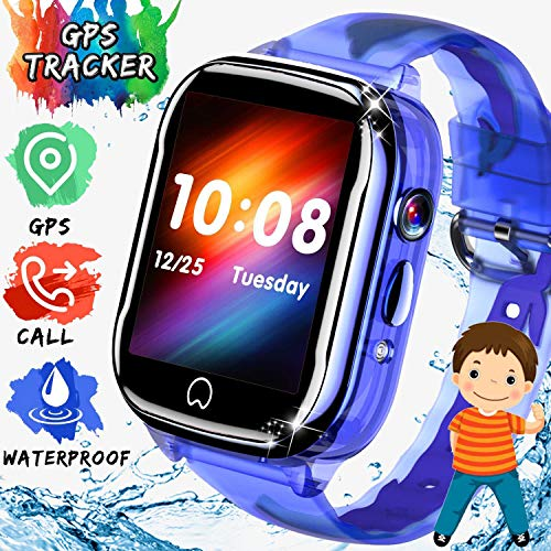 ONMET impermeable relojes inteligentes niños smartwatch, reloj gps niños reloj inteligente niña...