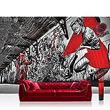 Vlies Fototapete 416x254cm PREMIUM PLUS Wand Foto Tapete Wand Bild Vliestapete - Graffiti Tapete Pop Art Street Art Bretterwand natural - no. 3359