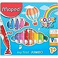 Maped Color'Peps Gros Feutres de Coloriage Premier âge pour Bébé et Enfant dès 1 an avec Pointe Sécurisée et Encre Lavable à