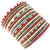 Bracelet 'french touch' 'Katmandou'red turquoise beige.