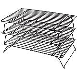 Kabalo Ahorro de espacio de 3 niveles, apilable para hornear rejilla de refrigeración para Galletas, Tortas y Repostería