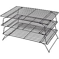 Kabalo Risparmio di spazio 3 Livello impilabile cottura rack di raffreddamento per biscotti, torte e dolci