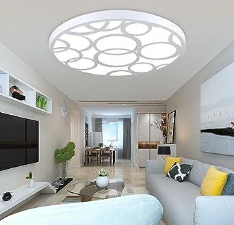 Jingzou LED Decke Schlafzimmerlampe Warmes Romantisches Wohnzimmerlampe Modern Minimalistisch Kreativ Rund Lampen 406CM Amazonde Beleuchtung