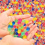 Water Beads Single Color Red Green Yellow Blue Clear for Choice (20000 beads) Water Growing Balls for Kids Tactile Sensory Toys Vases Plants Wedding and Home Decoration (multicolored2000)