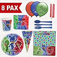 Party Fiesta Pack cumpleaños PJ Mask para 8 Personas