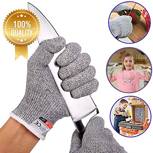 schnittsichere Handschuhe,schnittfeste Handschuhe Kinder,Handschuhe mit Stufe 5 Schutz,schnittschutz-Handschuhe küche,schnittfeste Arbeitshandschuhe,küchenhandschuhe schnittfest (XXS)