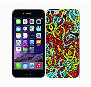 Galaxy Printed 2977 Utter Clutter Hearts&Cords Hard Cover for Apple Iphone 6 Plus
