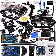 Quimat Kit de Robot de Coche WiFi con Mega2560 /Cámara HD, Robot Inteligente con Tutoral de Vídeo para Arduino, Kit Inteligente de Apredizaje y Educativo DS Robot