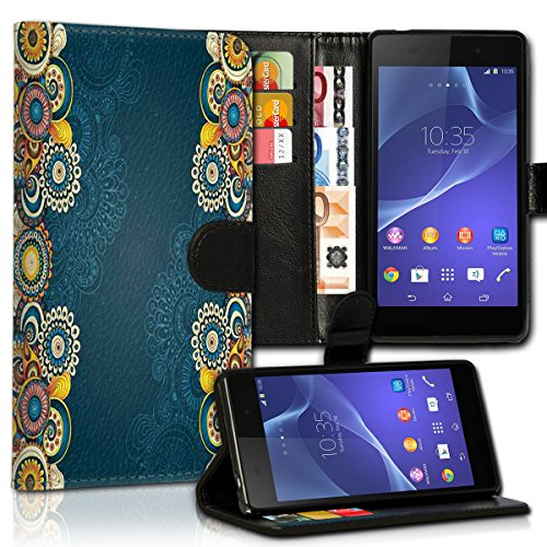 wicostar Wallet Book Style Flip Handy Tasche Case Schutz Hülle Schale Motiv Etui für LG L Bello - Variante UMV28 Design10