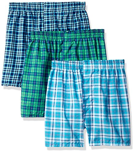 Fruit of the Loom Boys' Tartan Woven Boxer (Pack Of 3)