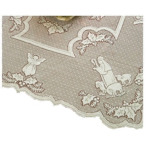 Heritage Lace Silent Night 45-Inch by 45-Inch White Table Topper by Heritage Lace (Table Topper White)