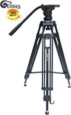 Eloies Simpex Long Fluid Head Heavy Duty Professional TH 650 Aluminum Tripod with Bag for DSLR/GoPro Action Digital Camera, 72-inch/6ft (Th650SMPX)