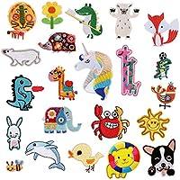 9a3c93604ba584 Augenbrauenbürste Lovely Animal Applikationen für Kinder Kaninchen Löwe Elefant Hund Dinosaurier  Eisen
