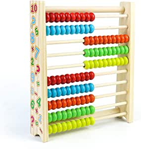 Thoth Montessori Wooden Large Bead Frame Abacus Preschool Learning Montessori Materials Early Development Toys Montessori Toys for Toddlers